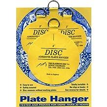 Flatirons Disc Adhesive Plate Hanger Set (2 - 3 Inch and 2 - 4 Inch Hangers) by The Flatirons Disc Co.