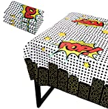 Blue Panda Superhero Party Tablecloth - 3-Pack