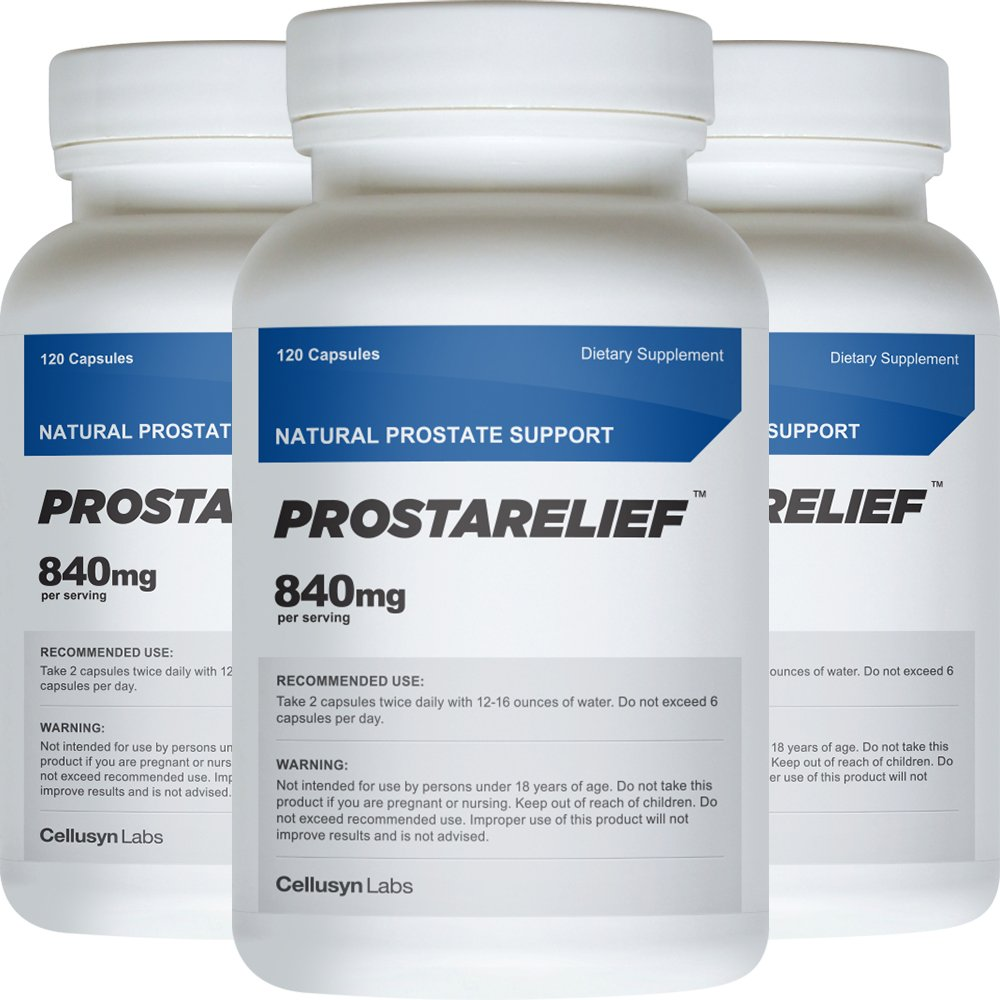 ProstaRelief (3 Pack) - All Natural Supplement to Promote Prostate Health - Safe and Natural Prostate Support Ingredients