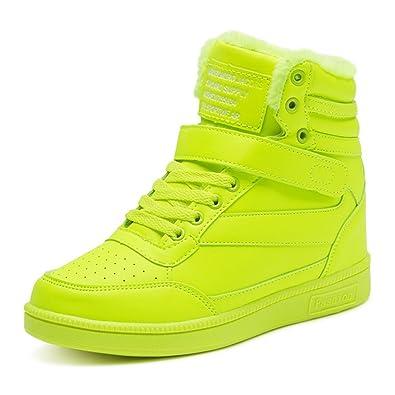 BAINASIQI Sneaker Donna Zeppa Interna Alte Scarpe da Ginnastica Casuale  Cuneo Piattaforma Catena Stivaletti Traspirante Scarpe. Scorri sopra  l immagine per ... aecc1593e0f