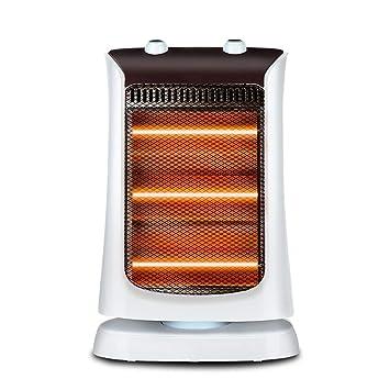 LVZAIXI Calentador Pequeño Sol Hogar Calentador eléctrico de bajo Consumo Calentador Cabeza de batido Estufa de asado de Escritorio Calentador de energía ...