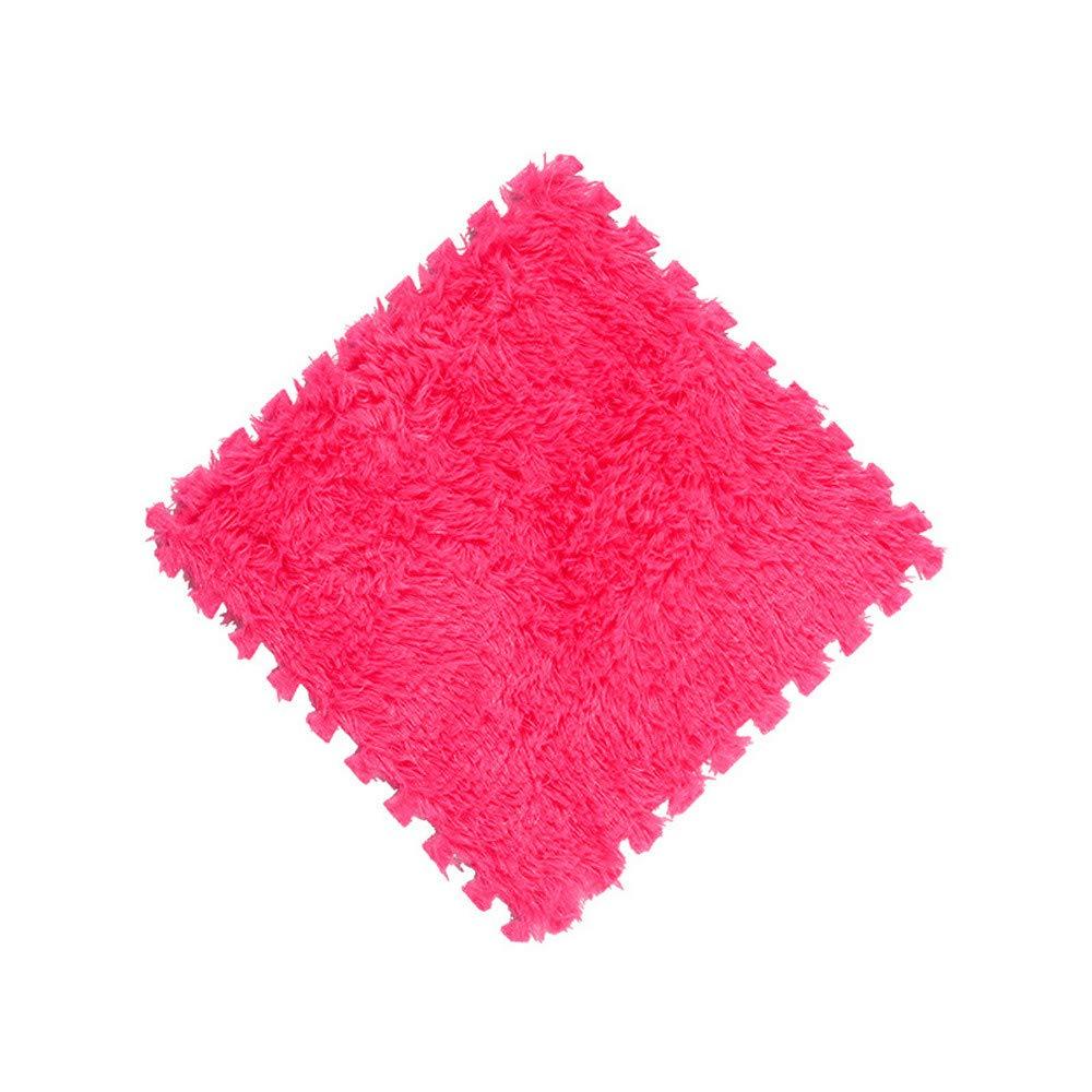 DZT1968  Kids Carpet Foam Puzzle Floor Mat EVA Long Fluff Baby Eco Floor 9 Colors (F)