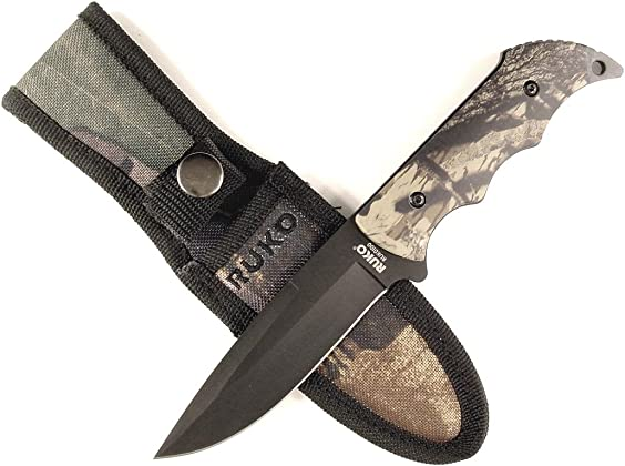 Ruko RUK0100 WX-3D Camouflage Aluminum Handle Knife with Nylon Sheath