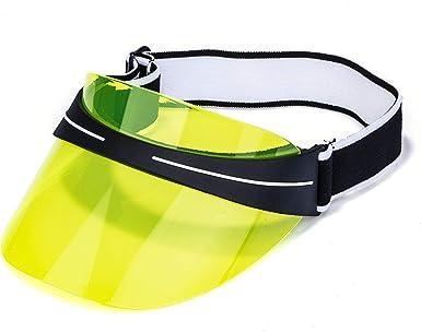 PVC Summer Sun Visor Hat Headband Cap UV Protection Transparent Outdoor Hiking