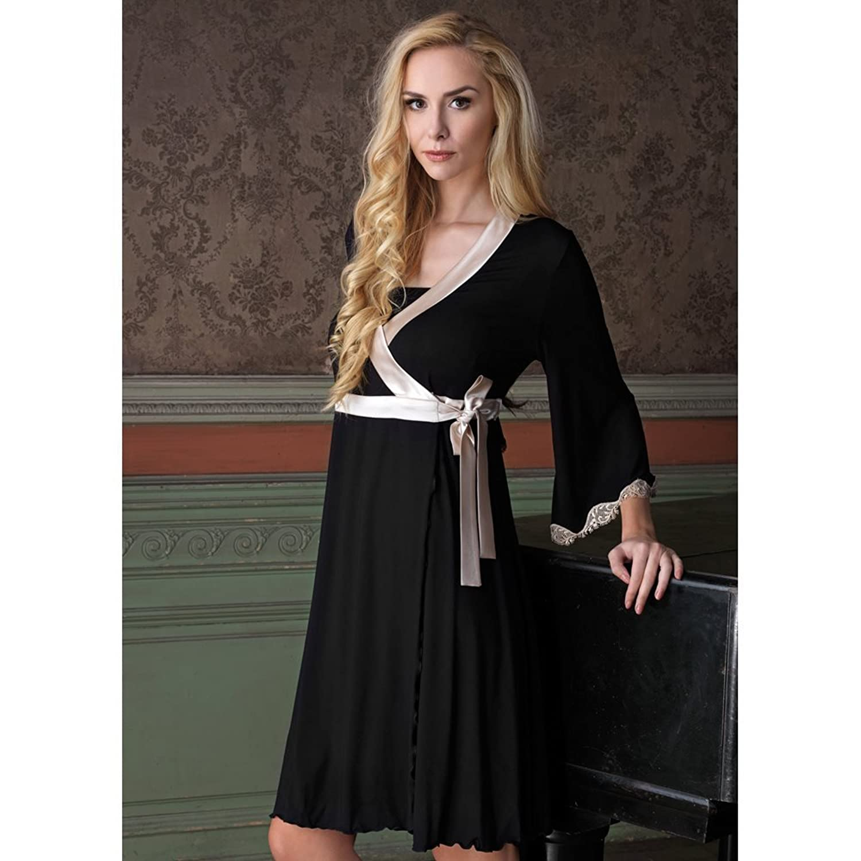 Vanilla Night & Day Dressing Gown - Black