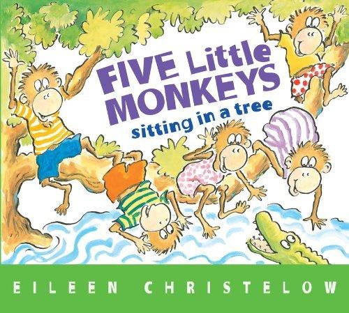 Download By Eileen Christelow Five Little Monkeys Sitting in a Tree (A Five Little Monkeys Story) (Brdbk Rep) [Board book] PDF