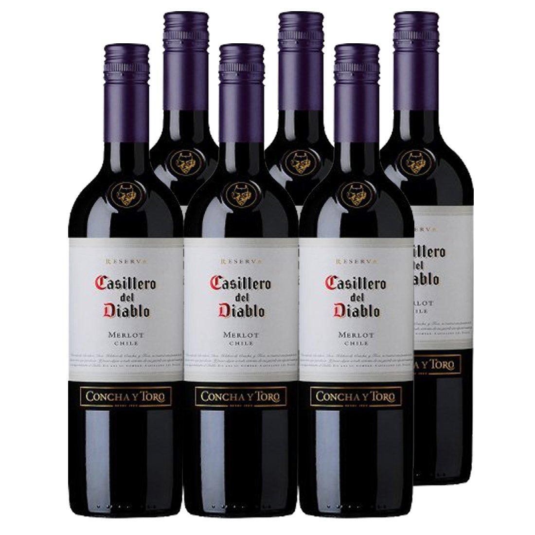 Casillero del Diablo 红魔鬼 梅洛红葡萄酒750ml*6瓶(智利进口红酒)