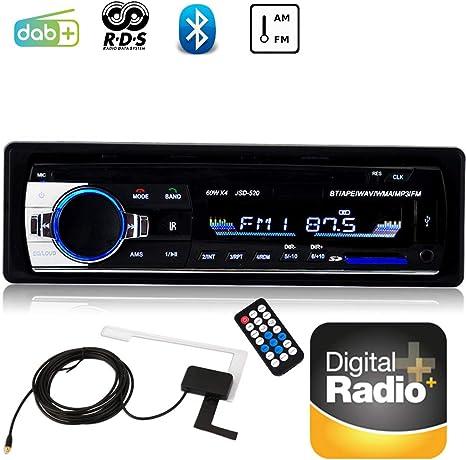 100% authentifié nouveaux styles artisanat de qualité Boomboost Radio 1 DIN pour Voiture Bluetooth Dab Voiture Radio MP3 USB  stéréo pour Voiture FM USB AUX Audio Voiture électronique Voiture Lecteur  Audio