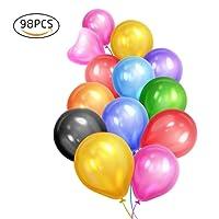 Eightnight 16 Colori 12 pollici Premium rotondo forte e spessa Latex palloncini per il compleanno di compleanno Evento partiti di decorazione partner, battaglia di battaglia di acqua battaglia