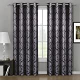 Cheap Aryanna Jacquard Grommet Top Curtain Panel Window Treatment – Set of Two (2) – Multiple Sizes & Colors Available