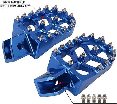 For Yamaha YZ65 2018 MX CNC Billet Foot Pegs Footpeg Footrests Pedal Aluminum