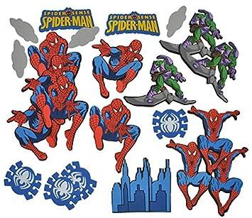 Unbekannt 24 Tlg Set 3 D Wandtattoo Sticker Spiderman Moosgummi Kind Fur Kinder Kinderzimmer Wandsticker Aufkleber Auch Zum Basteln Und