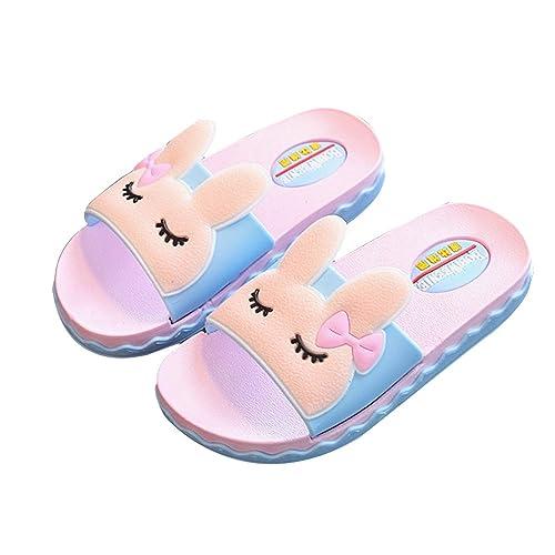 IUU Mom-Baby Slippers Cute Girl Rabbit Sandals Bath Slippers Non-Slip Slippers  House fb091d25e
