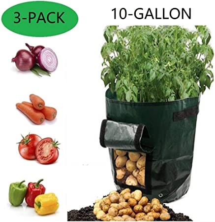 Potato Grow Bags Two 2 Pack Grow Your Own Potatoes Vegetables Flowers Planter