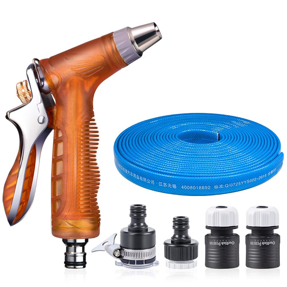 LONG 洗車用水銃の家庭用ホースプラスチックホースセット車の洗浄用品の給水ツール (色 : 青, サイズ さいず : 15m) B07KF9KX3P 青 15m