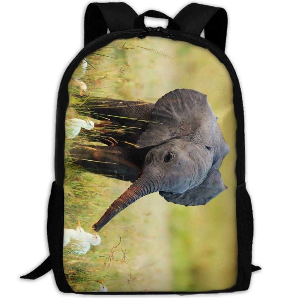 subensmキュート象動物フォレストand Little Duck画像Man & Womanバックパックデイパックフィットアウトドアバックパック旅行、ハイキング、キャンプ&カジュアル、大学、学校、ブックバッグ B07FSJ7PQX