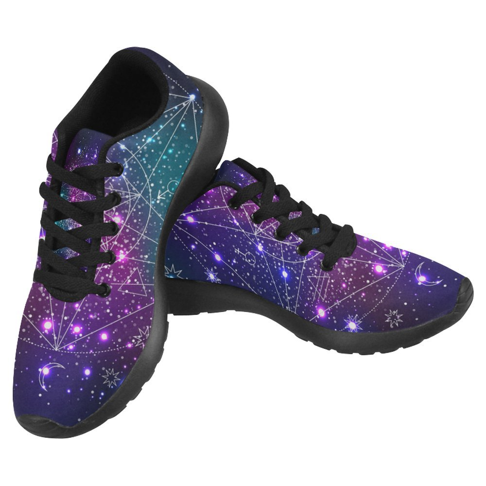 InterestPrint Women's Jogging Running Sneaker Lightweight Go Easy Walking Casual Comfort Sports Running Shoes Size 10 Mystical Geometry Symbol on Abstract Space
