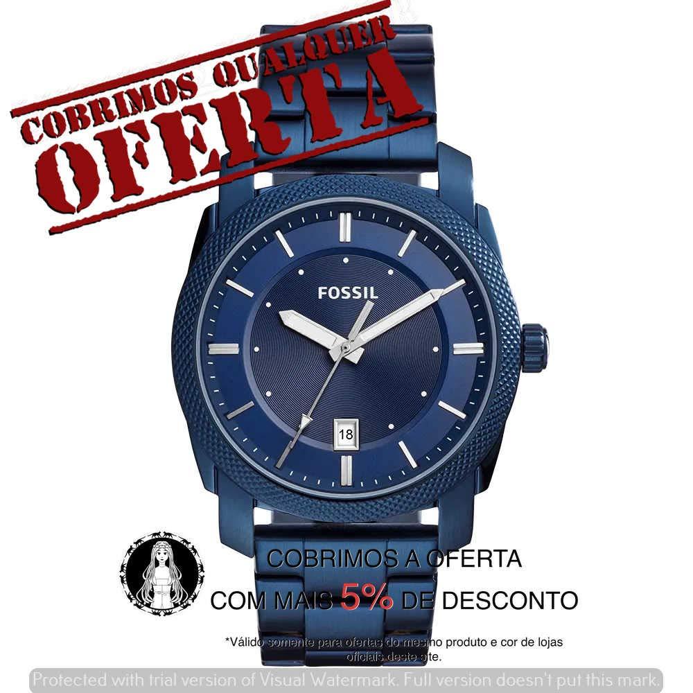 Relógio Fossil Masculino Machine Azul - Fs5231/1an: Amazon