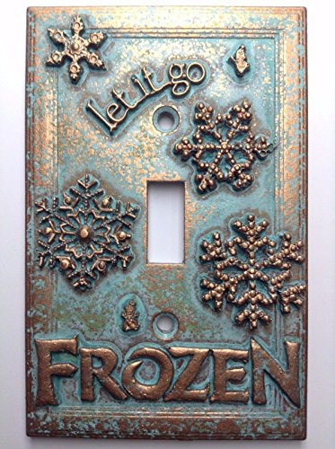 Frozen Light Switch Cover (Custom) (Patina)
