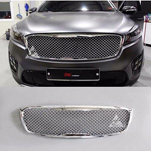 LIGHTKOREA Bentley Style Radiator Mesh Type Front Grille Grill For KIA Sorento 2016 2017 2018 (Chrome)