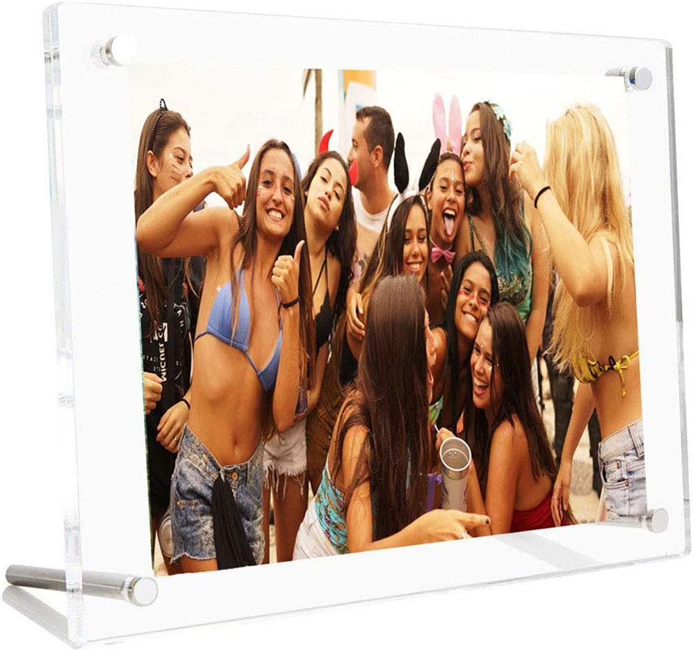 AIFUSI Picture Frame, 8.5X11 Clear Acrylic Photo Frame 4A Letter Size Decorative Poster Frame Desktop Tabletop Display - 1 Pack