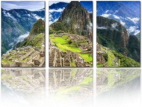 Machu Picchu Peru Canvas Wall Art Picture Print