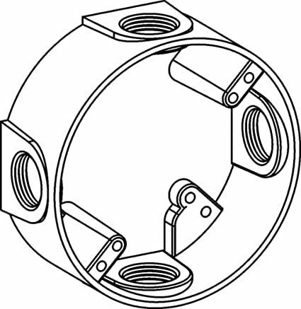 Orbit Exr75 4 Electric Box Extension Ring 4 Outlets W34 Hole