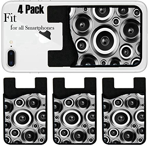 Liili Phone Card Holder Sleeve Wallet For Iphone Samsung Android And All Smartphones With Removable Microfiber Screen Cleaner Silicone Card Caddy 4 Pack  Id  27446037 High Fidelity Audio Stereo Syste
