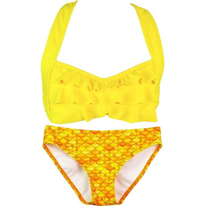 f512b6c9b3 Fin Fun Mermaid Girls Sea Wave Bikini Set