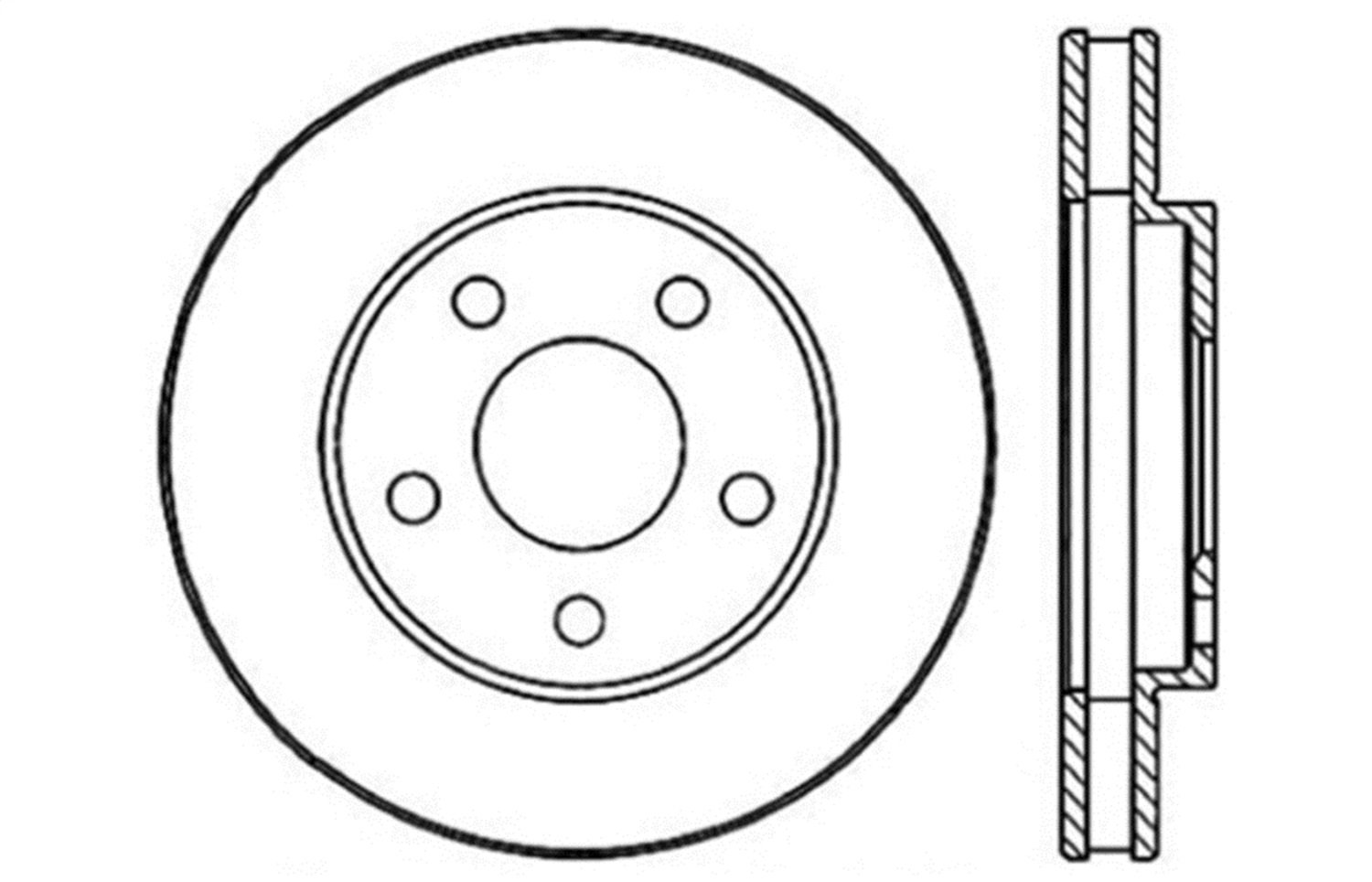 1 Pack Front Right StopTech 128.62050R Sport Cross Drilled Brake Rotor