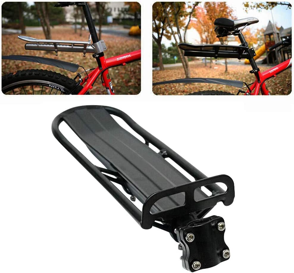 Bike Bicycle Cargo Rack Rear Cargo Pannier Rack Zcuhen Aluminum Alloy Bike Mount Cycle Bicycle Rear Seat Post Rack Universal Mountain or Fat Bike Luggage Carrier Lightweight
