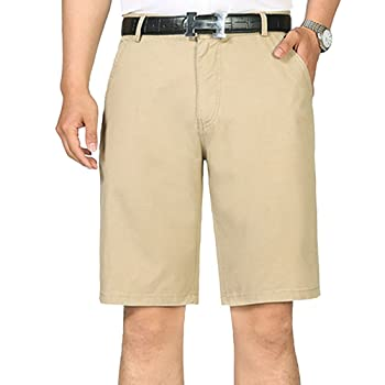 Men's Classic-Fit Short Casual Slim Cotton Shorts Pants