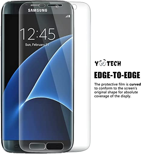 Galaxy S7 Edge Protector de pantalla [cobertura total], YOOTECH® [2-Pack] [anti-bubble] [HD Ultra Clear Film] Edge To Edge Protector de pantalla para Samsung Galaxy S7 Edge, Garant de por vida: Amazon.es: Electrónica