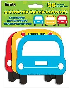 Eureka Learning Adventures Transportation Asst. Paper Cut Outs (841012)