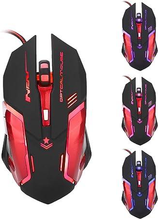 Gaming Mouse Metal Macro Definición 6 Botones 3200DPI