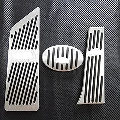 AT 2PC WANWU No Drill Car Accessories For BMW X1 F48 2-series Touring 218i 220i 220d 225xe AT Auto Accelerator Foot Rest Pedal Pad Sticker