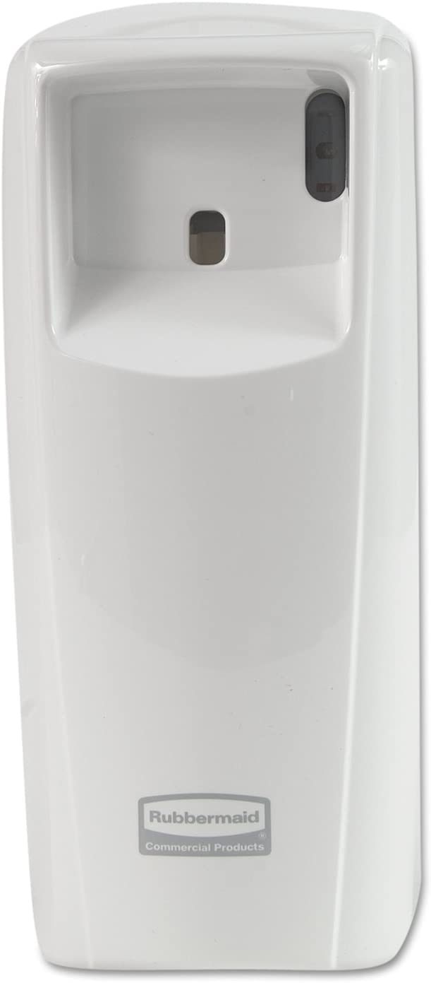 Rubbermaid Commercial 1793541 Standard LCD Display, Aerosol Air Freshener Dispenser System, White, 3.9w x 4.1d x 9.2h