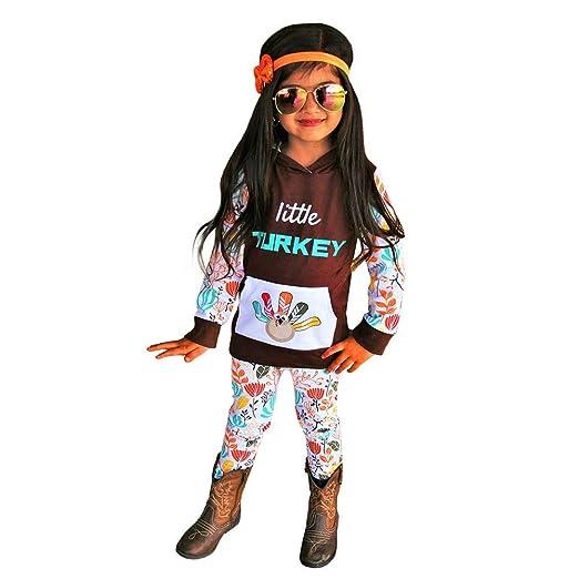 56ee64137cfa Amazon.com  Yalasga Thanksgiving Baby Girl Outfits Newborn Kids ...