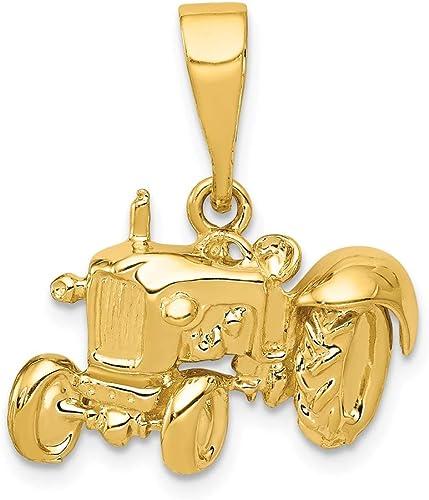 Diamond2deal pour femme Or jaune 14/K Pendentif de voiture