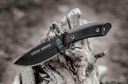 Amazon.com: Tops Knives Cuervo Hawke cuchillo de caza crh-01 ...
