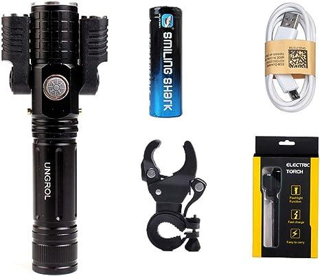 Aakrei Linterna antorcha LED Linterna para bicicletas Faros para bicicleta de montaña Linterna antideslumbrante Montar de noche Montura usb Foco Accesorios para equipos de montar súper brillantes Send: Amazon.es: Deportes y aire