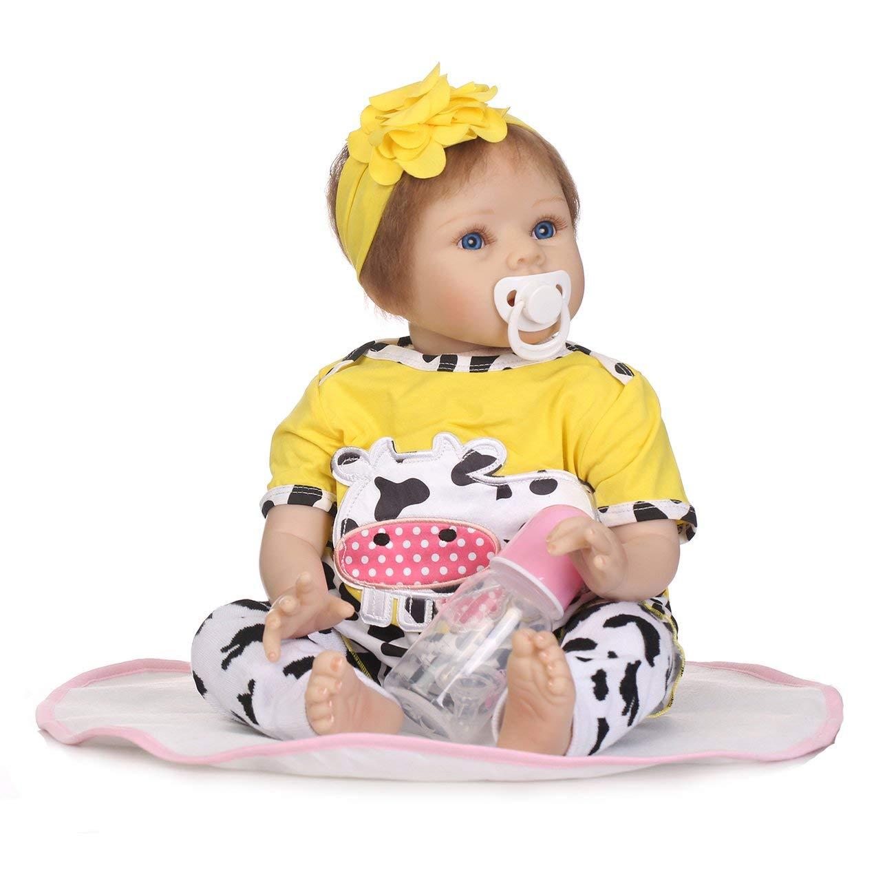 Dooret 55cm de Silicona Suave de la muñeca no tóxico Juguetes Seguros Adorable Precioso de la muñeca