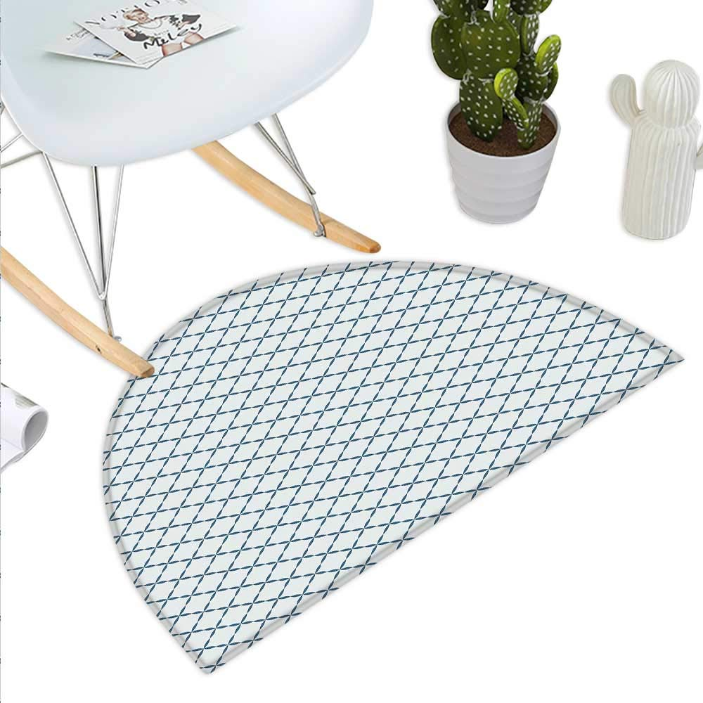 color14 H 31.5  xD 47.2  Tree Semicircle Doormat Mother Nature Theme Fresh Trees with Leaves Pattern Ecology and Growth Theme Halfmoon doormats H 27.5  xD 41.3  Pale Green White