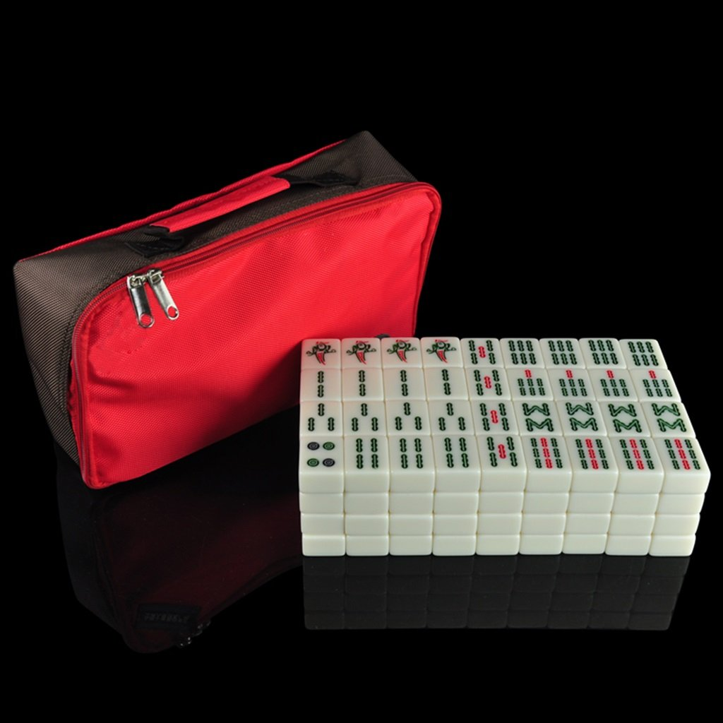 LI JING SHOP - Hand Rubbing Mahjong Card / 38-42mm Große Crystal Jade Jade Farbe Home Mahjong Card Set ( größe : L- 4.0*3.0*2.0CM )