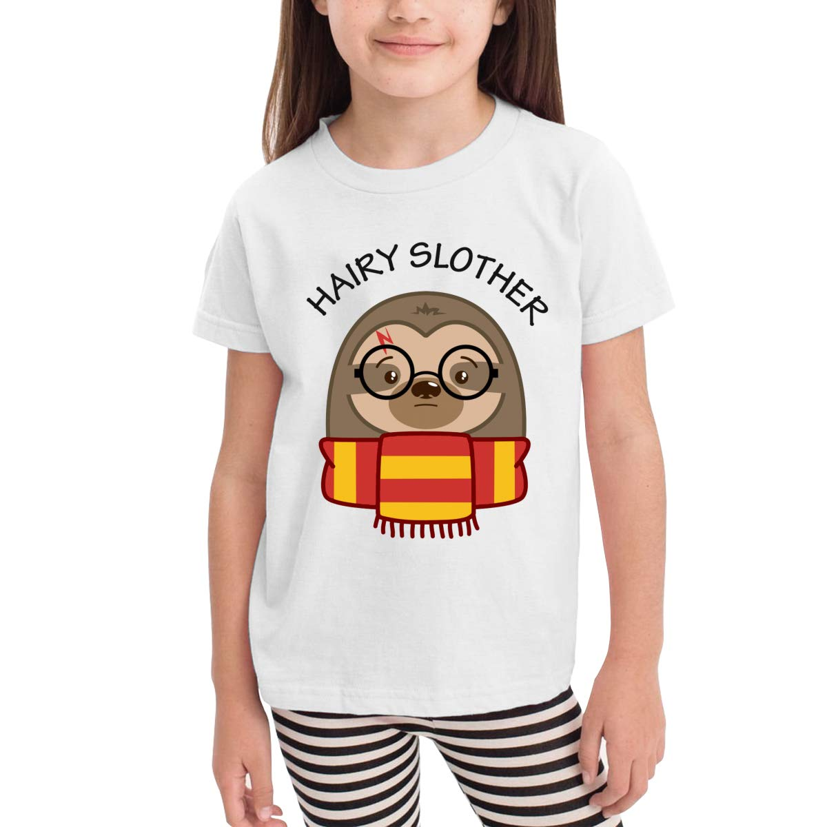 Hairy Slother Sloth Unisex Youths Short Sleeve T-Shirt Kids T-Shirt Tops Gray