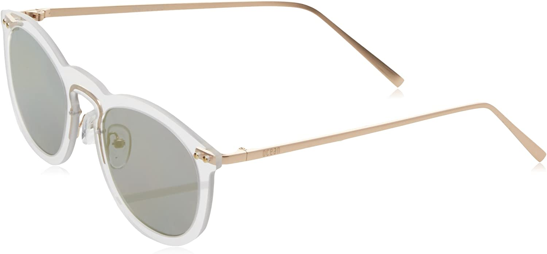 Ocean Round Eye Gafas de sol, Blanco (Bianco/nero), 55 Unisex Adulto