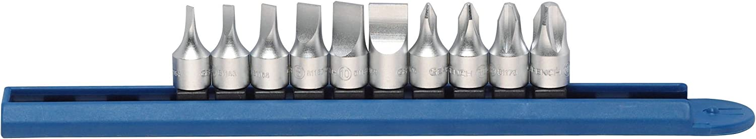 "Gearwrench 81180 10-pc 1//4/"" Drive Phillips And Slotted Bit Driver Set"