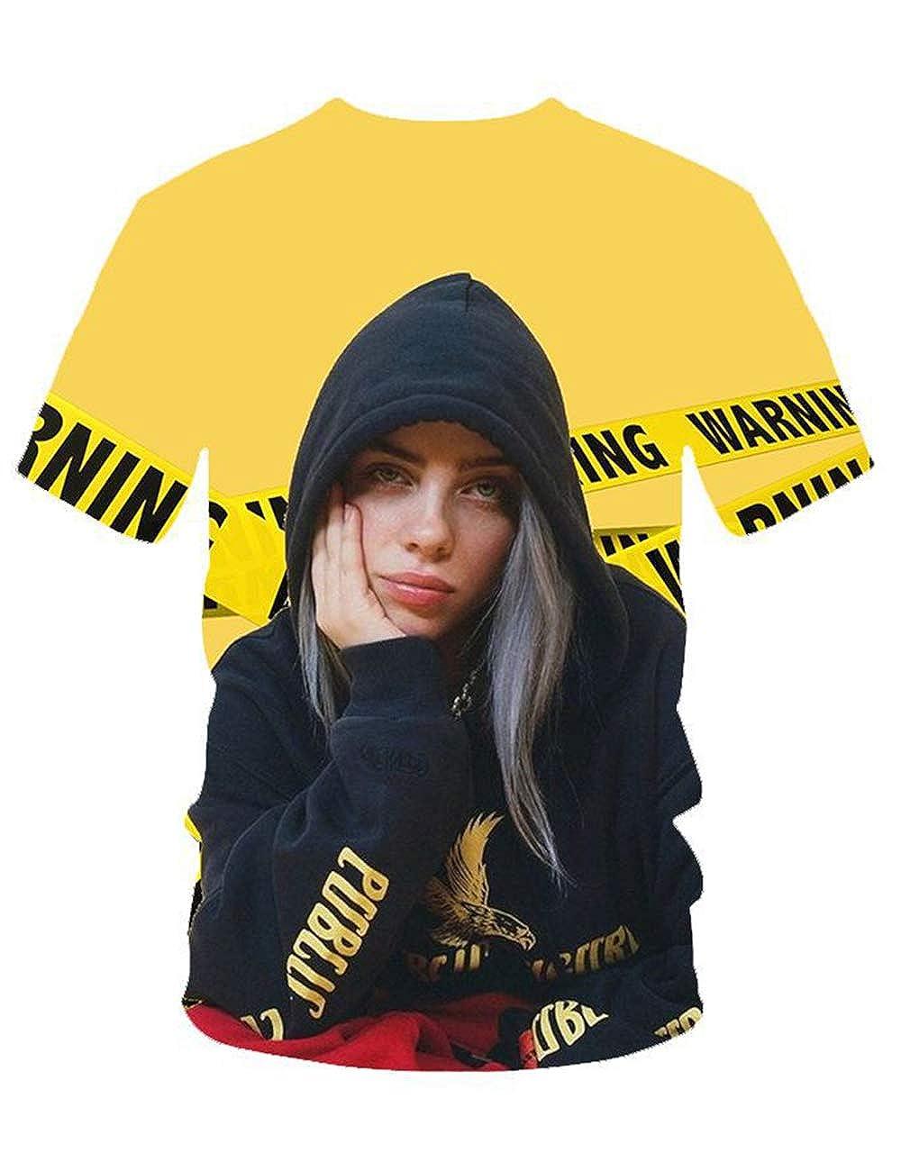 Moda Trend Singer per Billie Eilish Maglietta Bury a Friend Hip Pop T-Shirt Camicetta Top Bluse Maniche Corte per Uomo Donna Teen