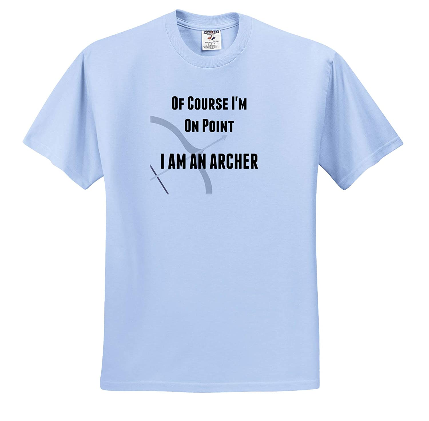 Adult T-Shirt XL 3dRose Carrie Merchant Image of of Course Im On Point Im an Archer ts/_309662