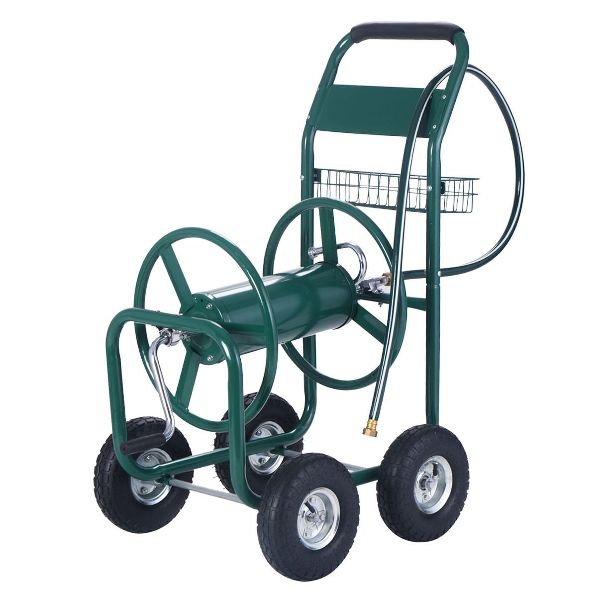 Wakrays Garden Water Hose Reel Cart 300FT Outdoor Heavy Duty Yard Planting W/Basket New by Wakrays (Image #1)